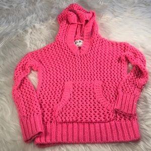 Bright Pink Hoodie Sweater